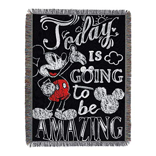"Disney's Mickey Mouse, ""Amazing Day"" Woven Tapestry Throw..."