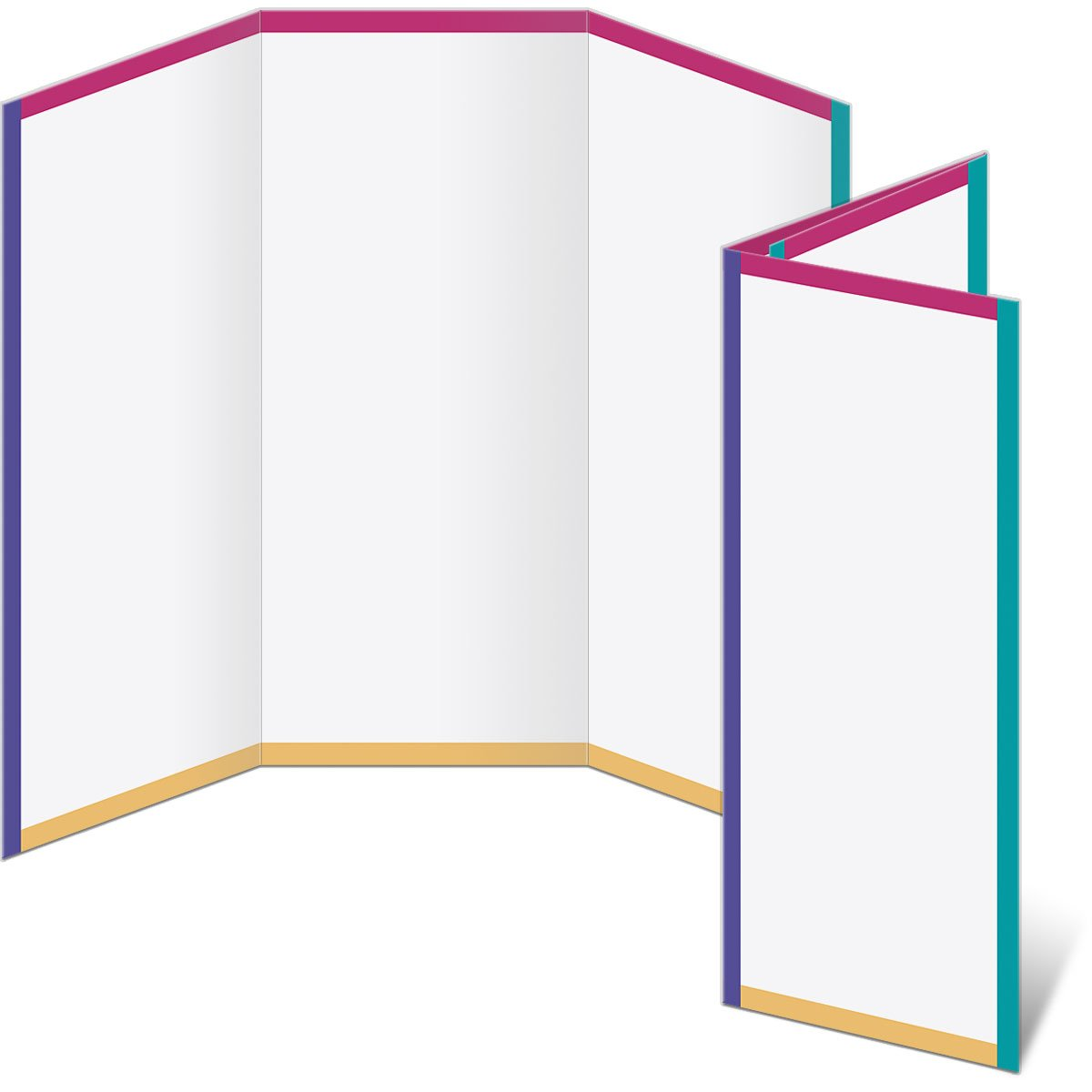 Colorful 3-Panel Brochure, 80 lb, 8.5 x 11 Inches, 300 Count