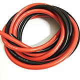 Oishi Tech 8 Gauge Silicone Wire 10 Feet [5 ft Black And 5 ft Red] - High Temperature Resistant Soft and Flexible 8 AWG Silicone Wire 1650 Strands of copper wire