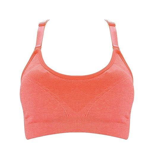 Wuxingqing-Sport Sujetador Deportivo para Mujer Running Gym ...