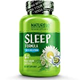 NATURELO Sleep Formula – with Valerian, Chamomile, Passion Flower, Lemon Balm, Hops & Melatonin – Best Natural Sleeping Aid – Fast Dissolve – 60 Capsules