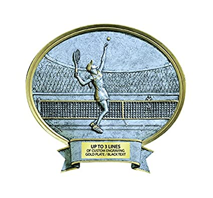 "Legend Tennis Resin Female Trophy, 6.5"" x 6"""