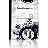5 x 5 Ruled Graph Composition Book (Black and White Patterned)