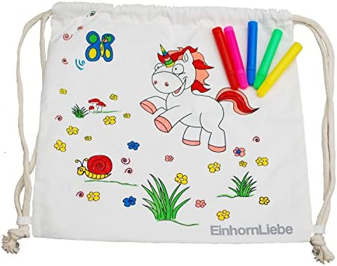 EinhornLiebe - Bolsa de deporte infantil con diseño de unicornio ...