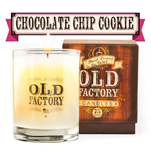Old Factory Scented Candles  Chocolate Chip Cookie  Decorative Aromatherapy  Handmade in The USA with Only The Best Fragrance Oils  11Ounce Soy Candles