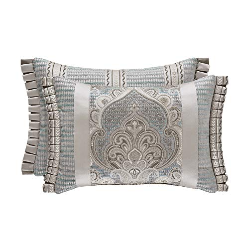 Five Queens Court Damian Boudoir Decorative Throw Pillow, Spa, 20x15