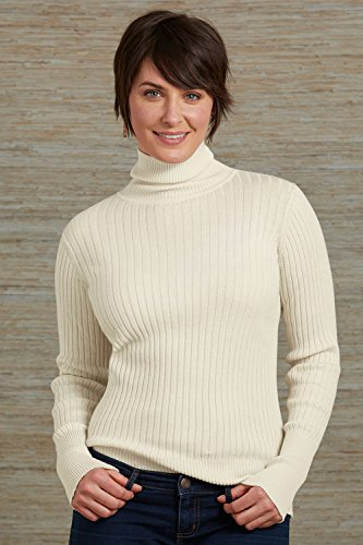 Fair Indigo Fair Trade Organic Ribbed Turtleneck Sweater