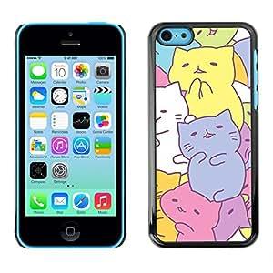 SKCASE Center / Funda Carcasa - Dibujo en colores pastel colorido;;;;;;;; - iPhone 5C