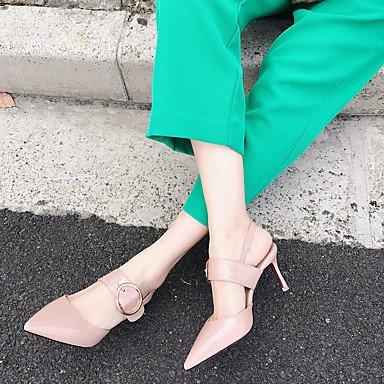 LvYuan Mujer Sandalias Confort PU Verano Confort Tacón Stiletto Rosa Almendra 7'5 - 9'5 cms blushing pink
