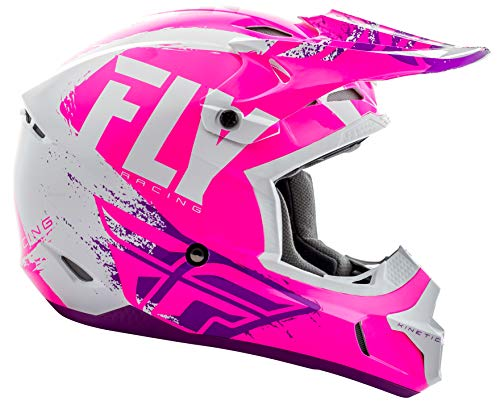 Fly Racing 2019 Kinetic Helmet - Burnish (Small) (NEON Pink/White/Purple)