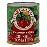 Delallo Crushed Tomato Chunky Style 28-Ounces (Pack of 12)