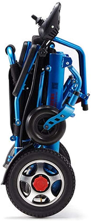 LLNSS Lightweight Lntelligent Folding Carry Electric Wheelchairs, Durable Wheelchair,Safe and Easy to Drive for Extra Comfort, Automatic Intelligent Wheelchair yu
