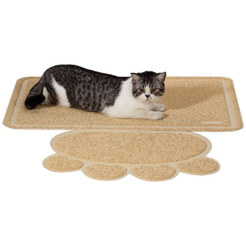 Ollieroo Durable Jumbo Size Cat Litter Mat Extra Large Scatter Control for Tracking Litter out of the Car Box