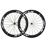ICAN 56mm Carbon Clincher Tubeless Ready 700C Wheelset Sapim CX-Ray Spokes Novatec hub (AS511SB/FS522SB) 20/24 Holes Only 1684g