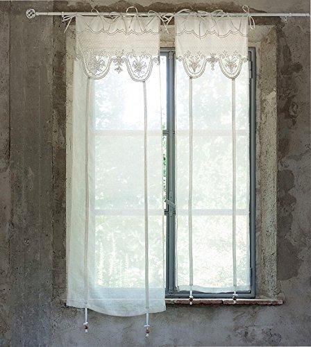 Amazon.de: Gardine Vorhang Scheibengardine Raffgardine 'Villa