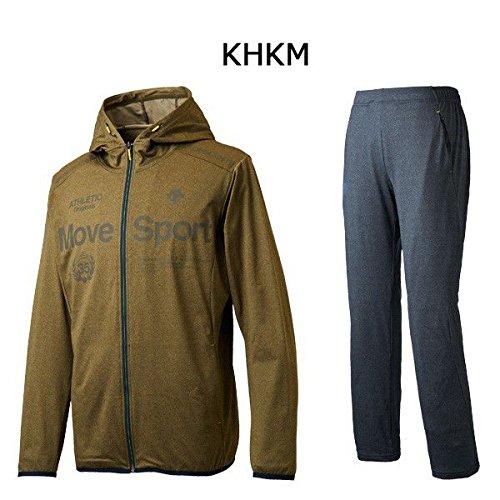 デサント DESCENTE タフスウェット フーデッドジャケットロングパンツ 上下セット DMMLJF12 DMMLJG12 B07923MFCG L|KHKM×NVM KHKM×NVM L