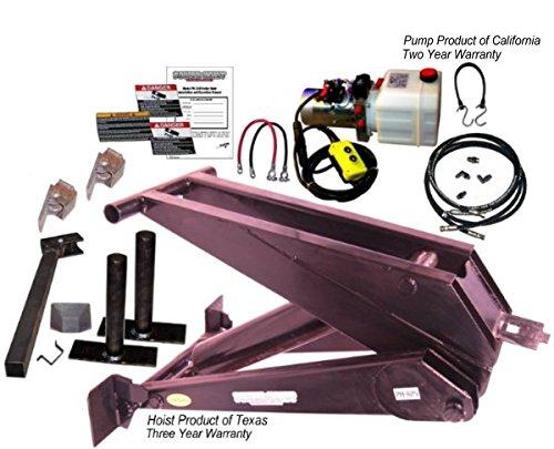 12 Ton (24,000 lb) Dump Trailer Hydraulic Scissor Hoist Kit – PH625 (16' to 20' Dump Body Trailers) by Premium Supply