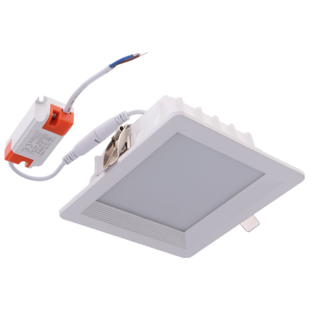 MagiDeal Square LED Downlight Recessed Fixture Ceiling Lamp Easy Installed - 4 Inch 12W