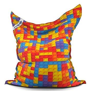 Poufs Jumbo Bag Original Printed Bricks Jardin Mobilier de ...