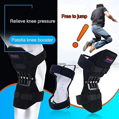 Fishyu 1 Pair Patella Booster Spring Knee Brace Support for Mountaineering Squat Sports