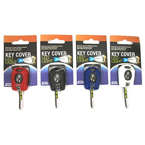 2 Key Cover LED Bright Light Keychain Torch Flashlight Keyring Case Cap New ! - http://coolthings.us