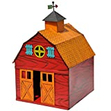 Studio M Colorful Metal Miniature Fairy Garden Barn on the Farm, Multicolor
