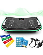 Bluefin Fitness Pedana Vibrante e Oscillante con Motore 4D | Potente e Facile da Usare | con Massaggio Magnetico | Superficie Curva Confortevole | Altoparlanti Bluetooth 4.0