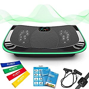Bluefin Fitness 4D Triple Motor Vibration Plate | Powerful | Magnetic Therapy Massage | Curved Surface | 4.0 Bluetooth…