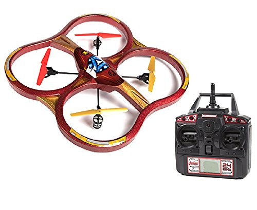 World Tech Toys 2.4Ghz Marvel - Iron Man Super Drone 4.5 Channel RC Drone by World Tech Toys