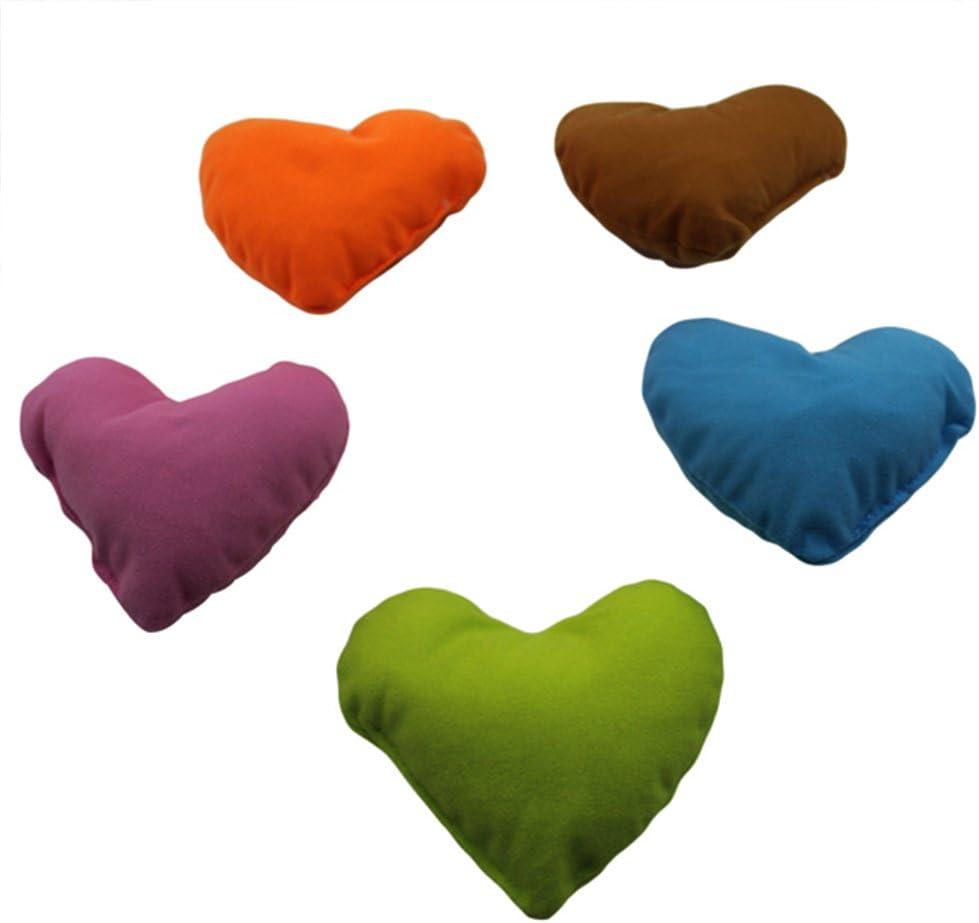 Welim - Cojín para mascota, diseño de corazones, para el cuello, almohadilla para reposacabezas, juguete suave, cojines para perros y gatitos, 3 juegos