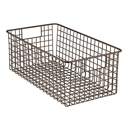 Baskets are great for quick storage. Use wire baskets and metal boxes and bins to sort your incoming and outgoing mail. Place a wire basket on your dining room table and fill it with fresh fruit.