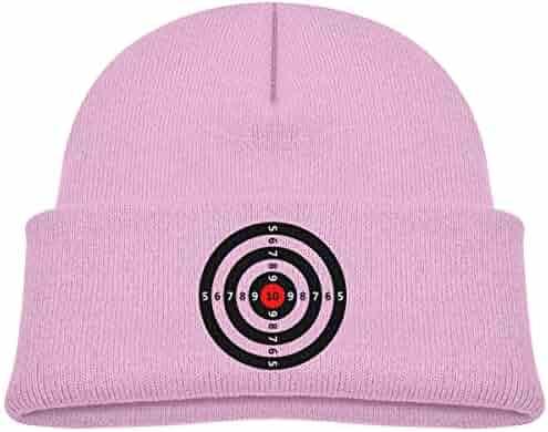 cd1ad07bbdf EASON-G Kid s Beanie Gun Darts Target Cuffed Knit Hat Skull Cap
