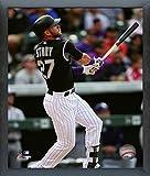 "Trevor Story Colorado Rockies 2016 MLB Action Photo (Size: 17"" x 21"") Framed"
