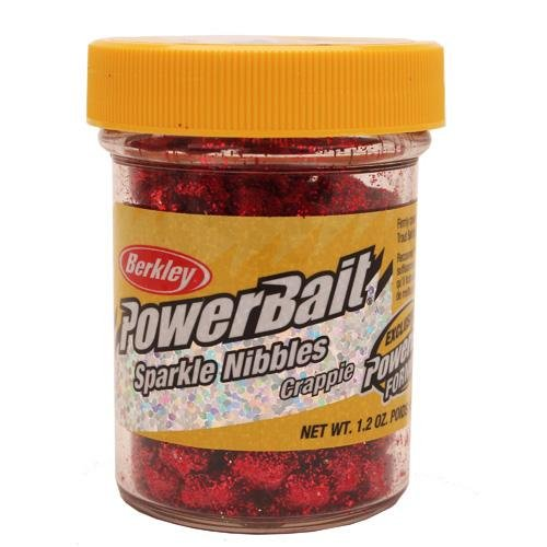 Berkley PowerBait Crappie Sparkle Nibbles, Wildfire, 1.2-Ounce