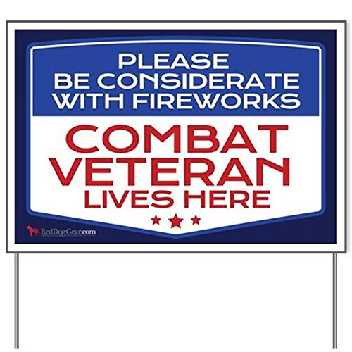 E&M Designs Combat Veteran Fireworks Yard SignYard Sign, Vinyl Lawn Sign, Political Election Sign
