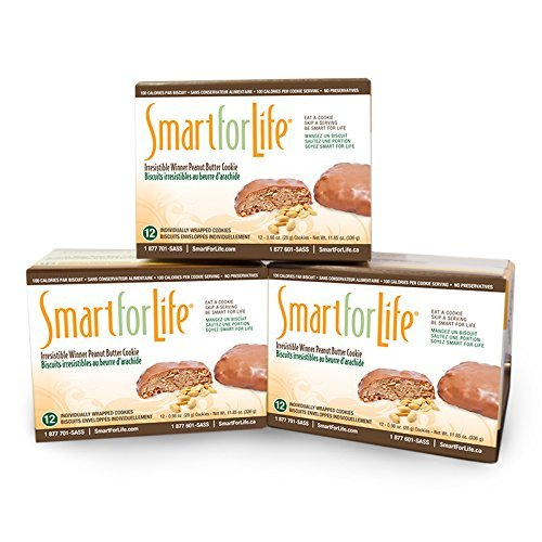 Smart for Life 3-12ct Irresistible Winner Peanut Butter Cookie