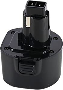 POWERAXIS 9.6V DW9062 Replacement Battery Pack for Dewalt DW9062 DW9061 DE9036 DE9061 DE9062 DW9614 DW050 DW902 DW926 DW926K-2 DW952 DW955 DW967K DC750KA Cordless Power Tool, Dewalt 9.6 Volt NI-CD