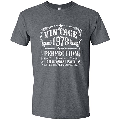 (Born in 78 Birthday Shirt, Over The Hill, Bday Shirt for him, Vintage, Black, XL)
