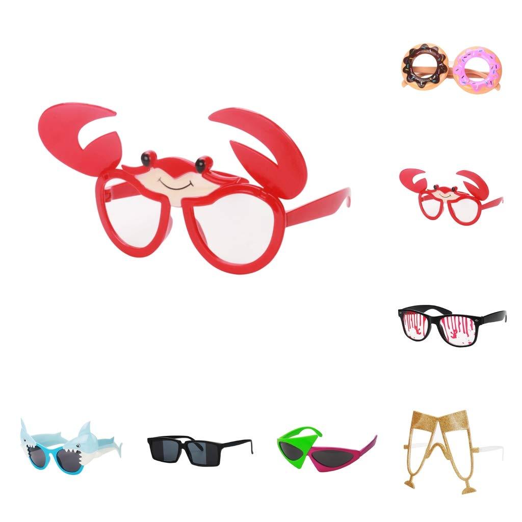homyl lunettes de soleil fantaisie pour f te. Black Bedroom Furniture Sets. Home Design Ideas