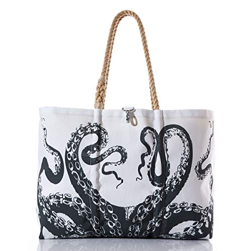 Sea Bags Recycled Sail Cloth Octopus Tote Large made in Maine