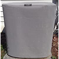 HeavyDuty Beathable Tight Mesh Winter Full Air Conditioner Cover - Square - 24x24x 24 Ht - Gray