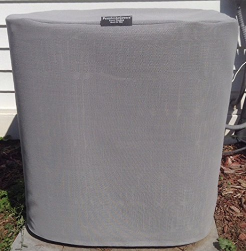 HeavyDuty Beathable Tight Mesh Winter Full Air Conditioner Cover - 28x28x28Ht - Gray by PremierAcCovers (Image #3)