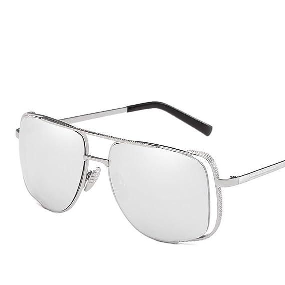 Aoligei Europe et l'États-Unis rétro grand cadre lunettes de soleil Half Hollow photo frame hommes et femmes tendance pare-soleil rbvsUyS