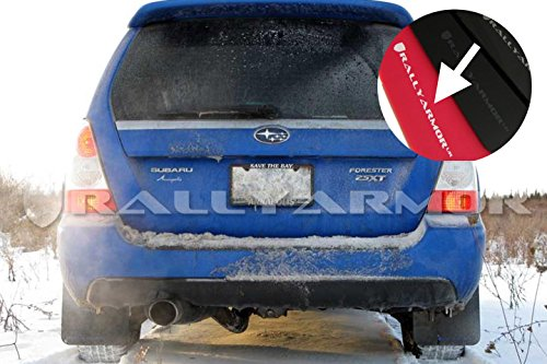 (Rally Armor MF5-UR-RD/WH Red, White Mud Flap with Logo (2003-2008 Subaru Forester UR))
