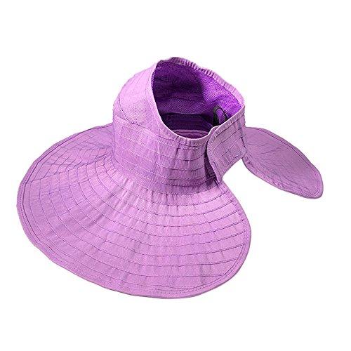 HTDBKDBK Women Summer Outdoor Beach Fashion Tide Folding Cap Hat Bucket Hats Sunhat Purple -