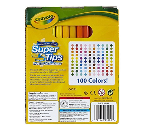 Crayola-Super-Tips-Washable-Markers-100-Count-Bulk-Great-for-Kids