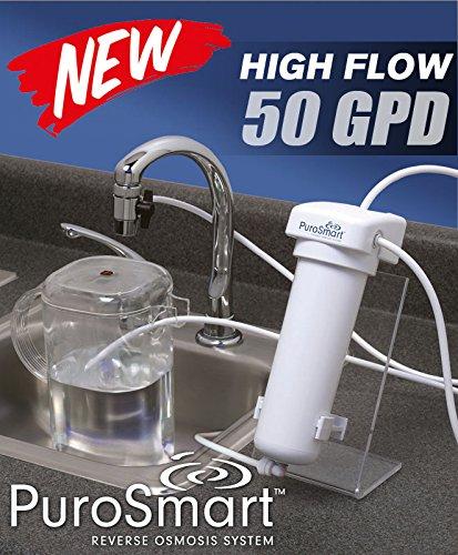 [PuroSmart High Flow RO System, Countertop Home Water Treatment System] (Osmosis Water Treatment System)