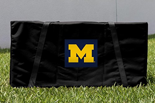 NCAA Michigan Wolverines Cornhole Carrying Case, One Size, Multicolor