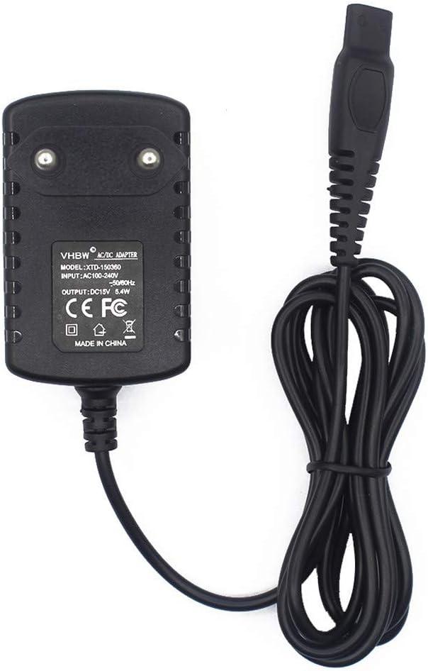 tianranrt 15 V 0.36 A Alimentación afeitadora Cargador Cable adaptador para Philips Norelco afeitadora HQ8505 EU: Amazon.es: Bricolaje y herramientas