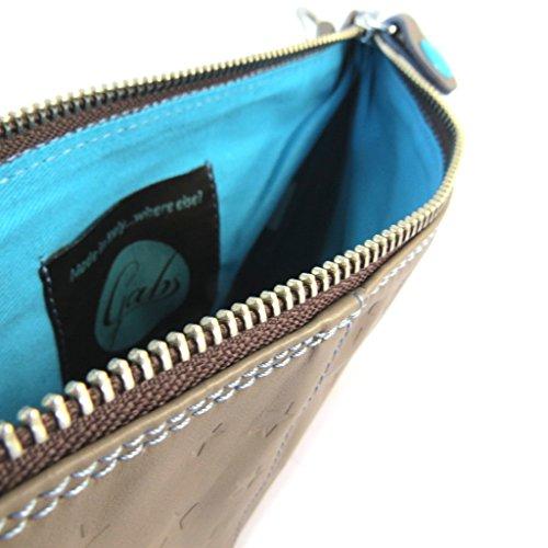 La bolsa de cuero bolsa 'Gabs'estrella café ()- 24x17x1 cm.